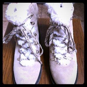 Sam Edelman Fur Winter Boots Sz 8